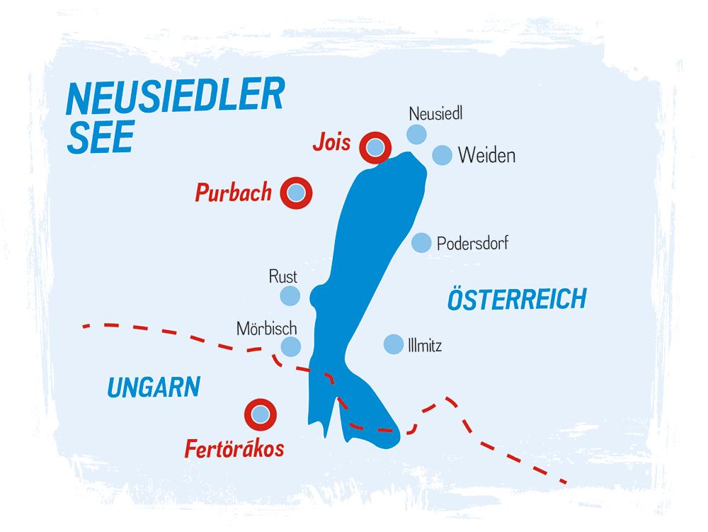 Segelschule Sven Reiger: Standorte am Neusiedler See